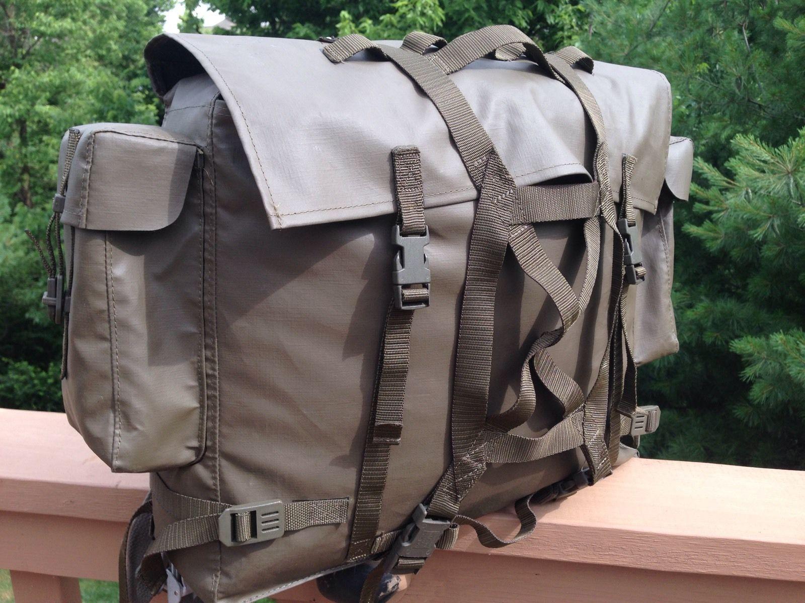 Vintage Swiss Military Waterproof Backpack Rucksack Ebay Design