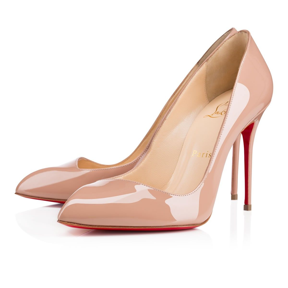 30781ad2b16 Corneille 100mm Nude Patent Leather | Kim's Dresses | Stiletto heels ...