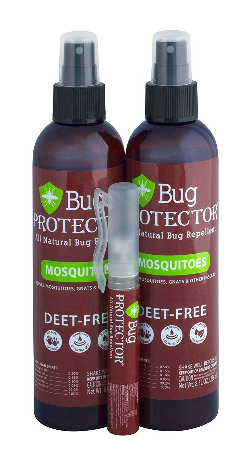 Bug Protector Natural Bug Spray, Deet Free Insect