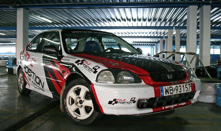 Pole position honda civic rally car rallyart for Honda civic rally car