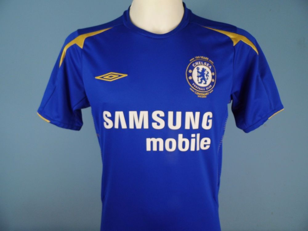 new york 9d0a3 7137c Authentic Chelsea 2005-06 Home Shirt Umbro Samsung Mobile ...
