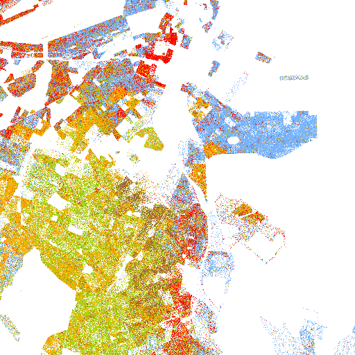 Boston The Racial Dot Map One Dot Per Person For The Entire US - Racial map of us