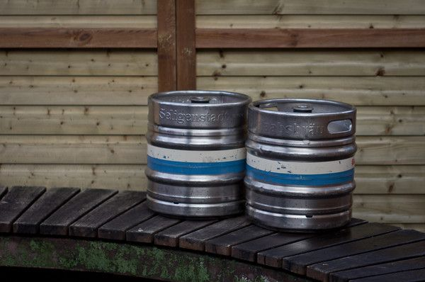 Just two barrell of beer at the christmas market in Seligenstadt/Hessen/Germany