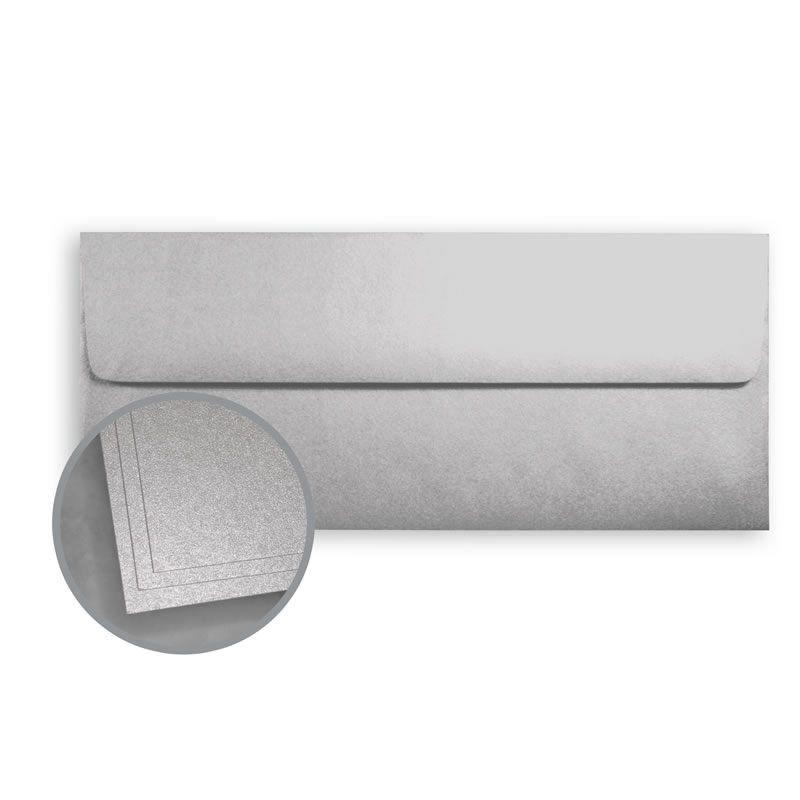 ASPIRE Petallics Silver Ore Envelopes - No. 10 Square Flap (4 1/8 x 9 1/2) 80 lb Text Metallic C/2S  500 per Box