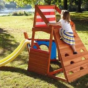 captain plum wooden play centre a sturdy and compact climbing frame for toddlers and younger. Black Bedroom Furniture Sets. Home Design Ideas