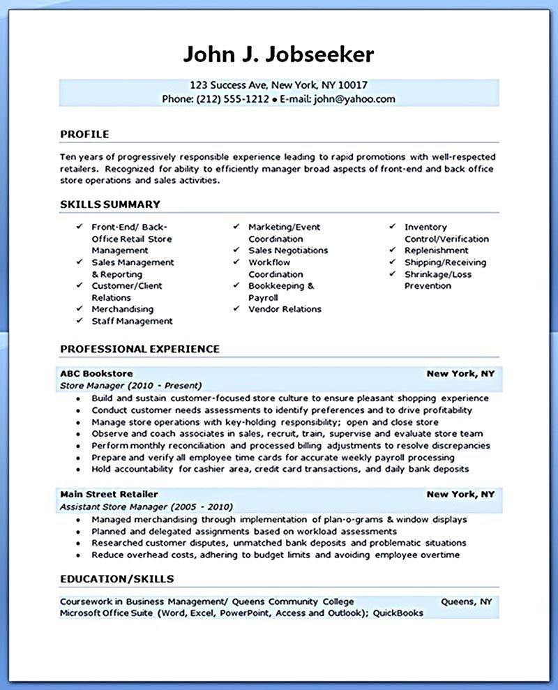 Retail Assistant Manager Resume Retail Manager Resume Is Made For Those Professional Employments