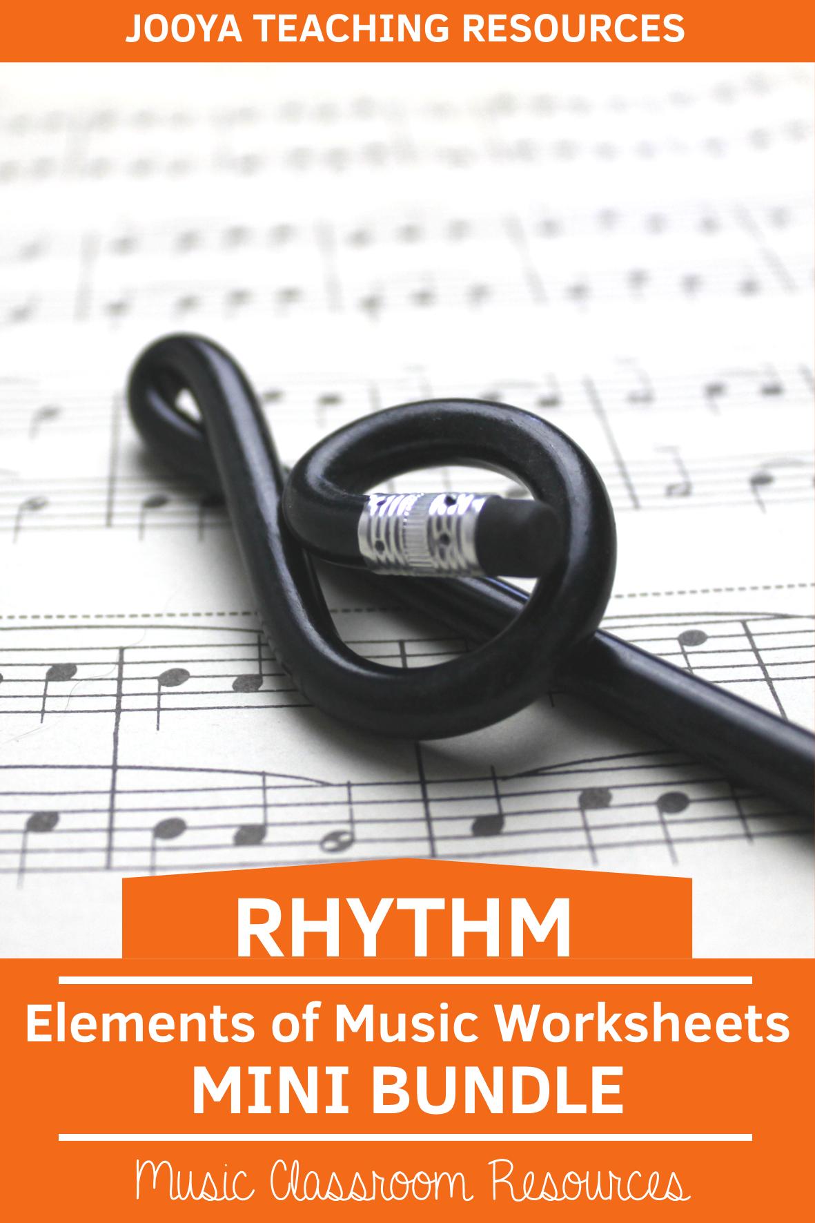 Elements Of Music Activities Bundle