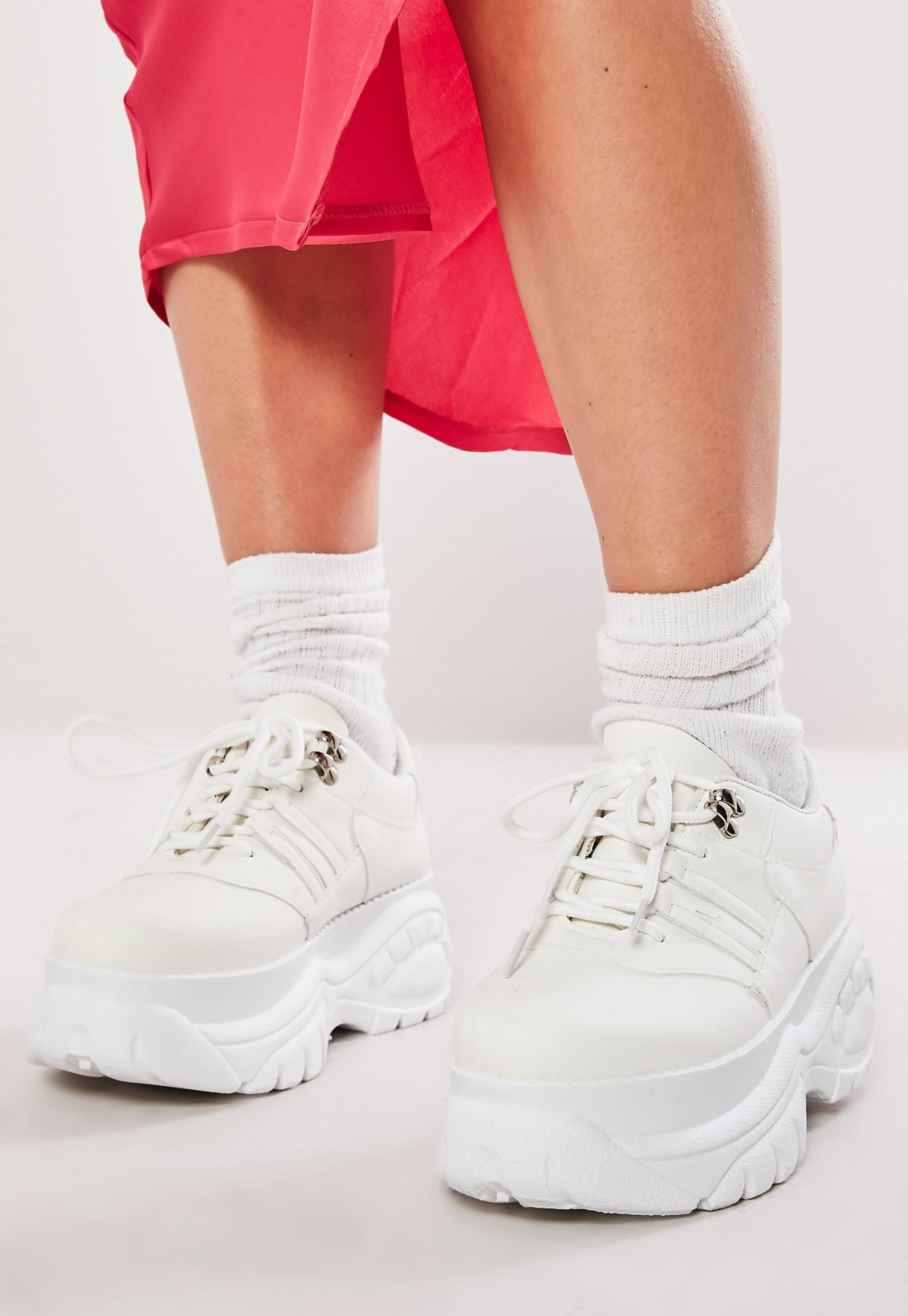 White Super Chunky Trainers