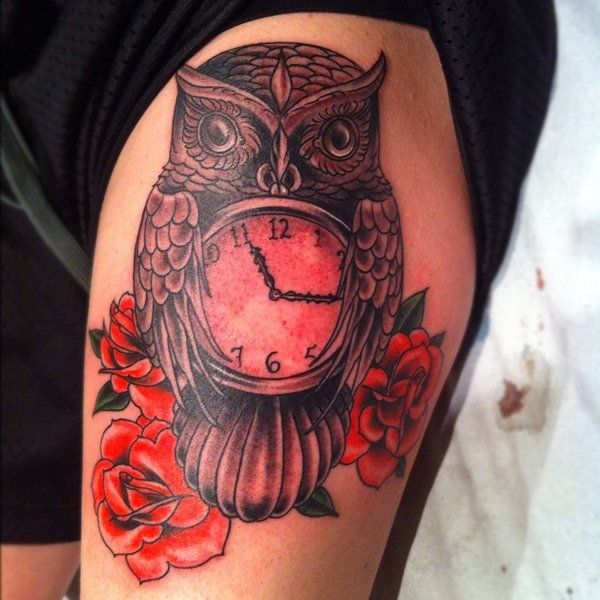 4b3fbec88bc65 55 Awesome Owl Tattoos | tattoo | Owl tattoo design, Traditional owl ...