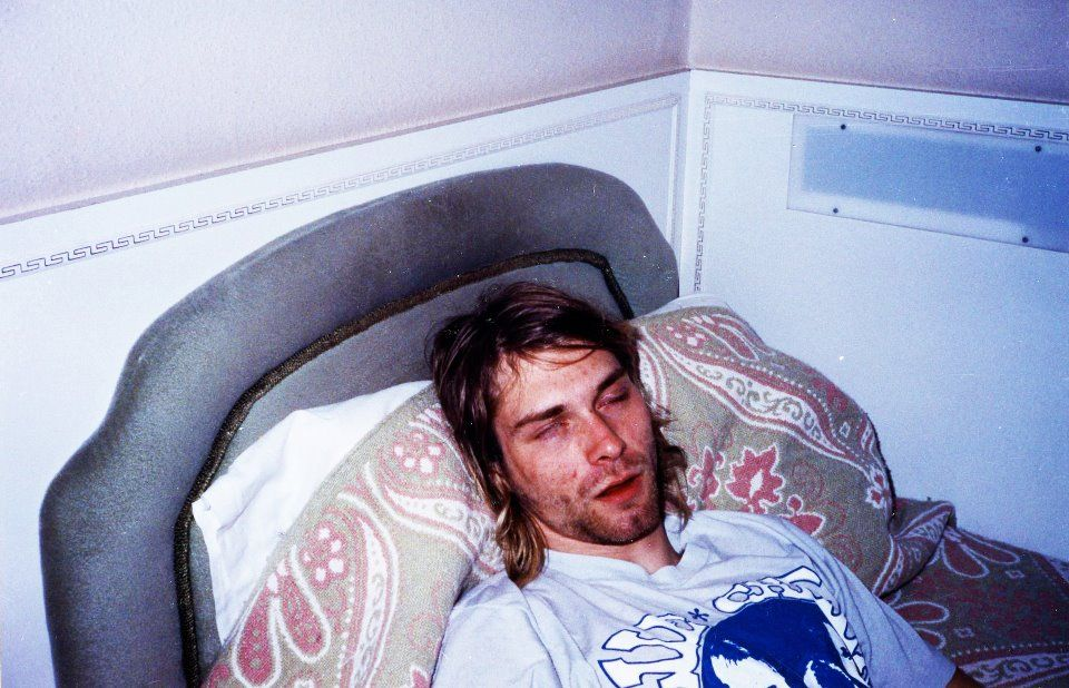 Kurt sleeping, photo by Mary Lou Lord