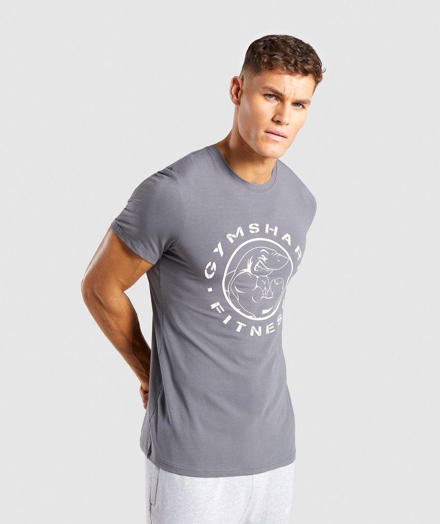 52899ed2625e4 Gymshark Legacy T-Shirt - Smokey Grey 1
