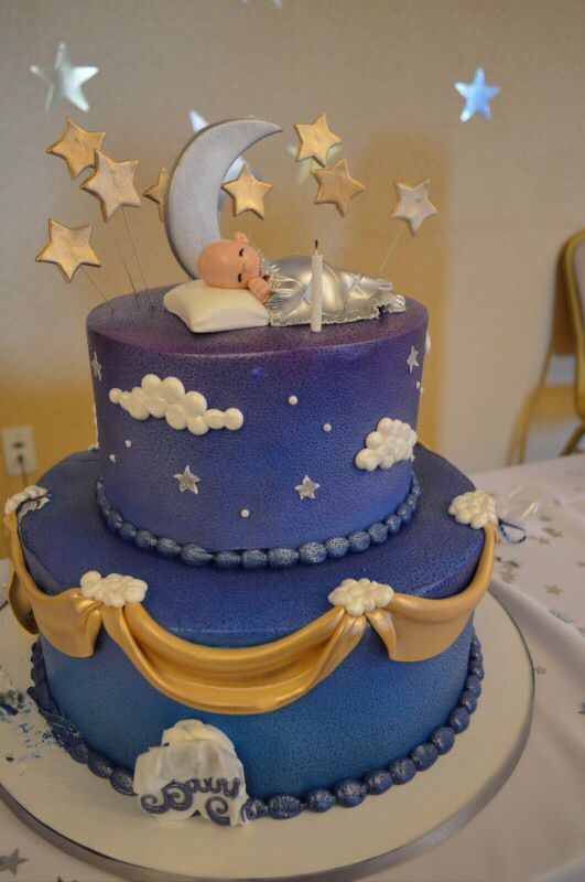 Twinkle Twinkle Little Star Cake With Images Baby Shower Cake