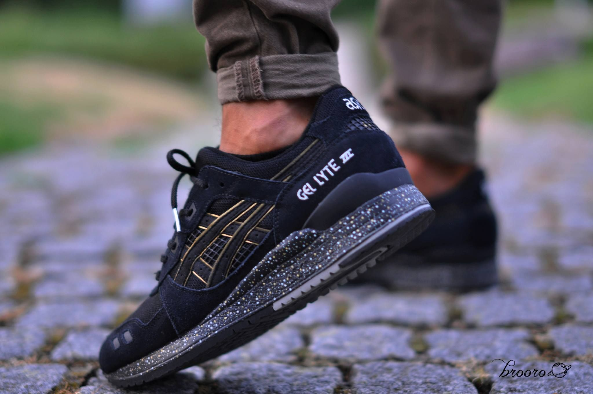 Aturdir Estadio Frugal  asics gel lyte 3 x atmos - black/gold