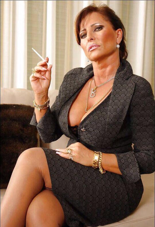 Classy mature smoker useful