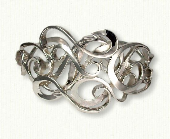Custom Sterling Silver Monogram Cuff Bracelet with Initials 'NJZ'-Makes a GREAT Mother's Day or Anniversary Present! http://www.custom-bracelets.com/mono.php
