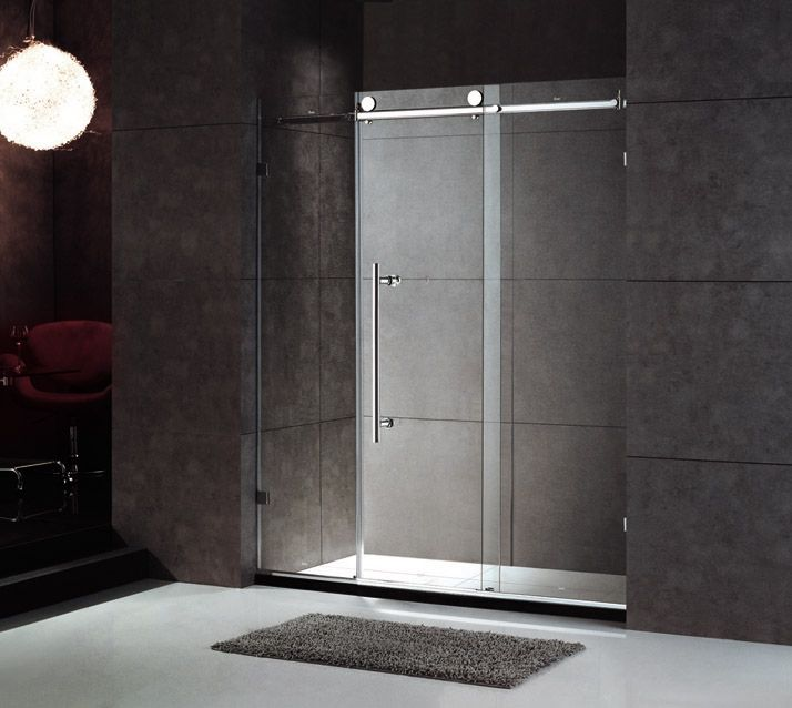 Frameless Rolling Glass Shower Doors.Frameless Shower Door Rolling Track For The Home