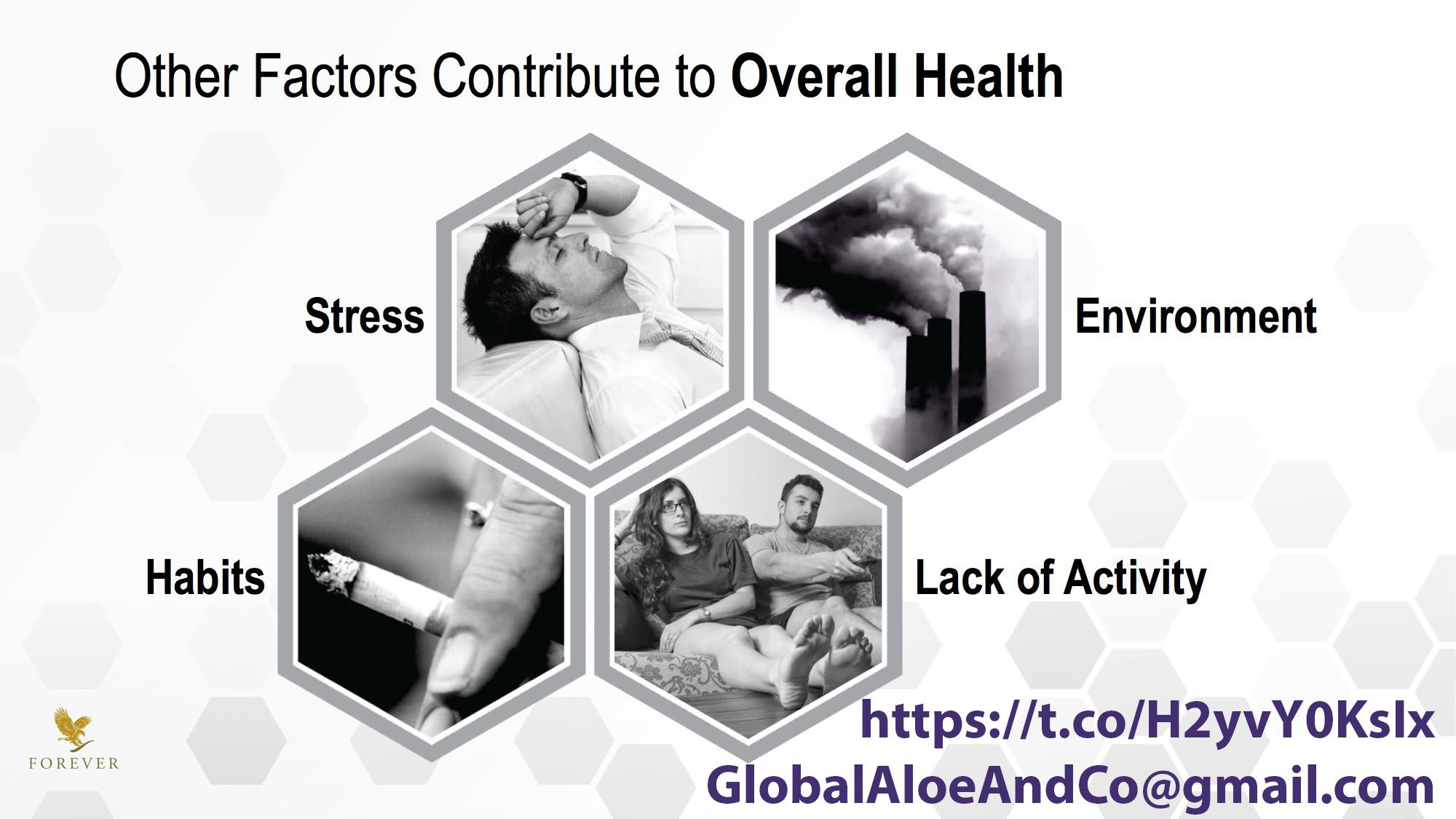 What things affect your health? Time to review your overall life conditions :)