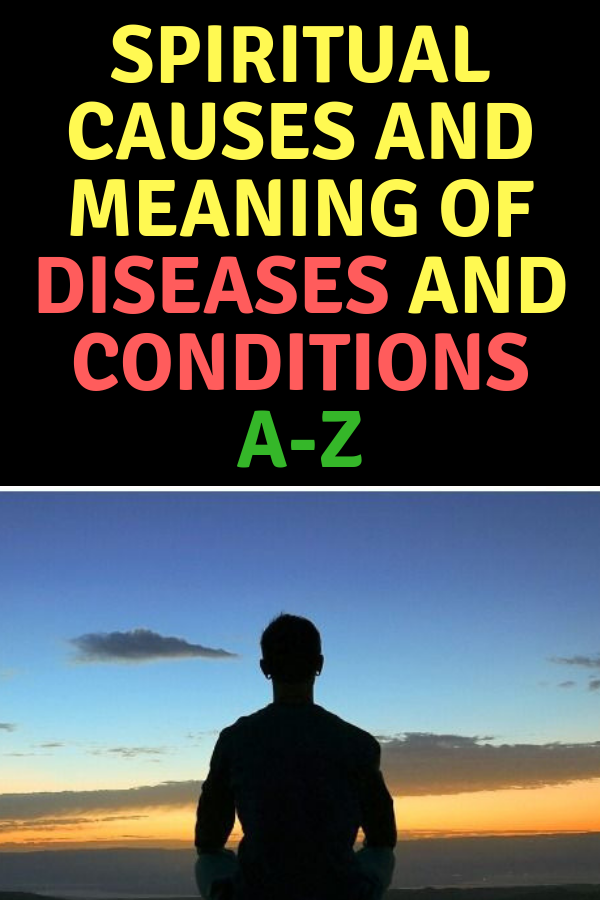 Spiritual Causes and Meaning of Diseases and Conditions A-Z
