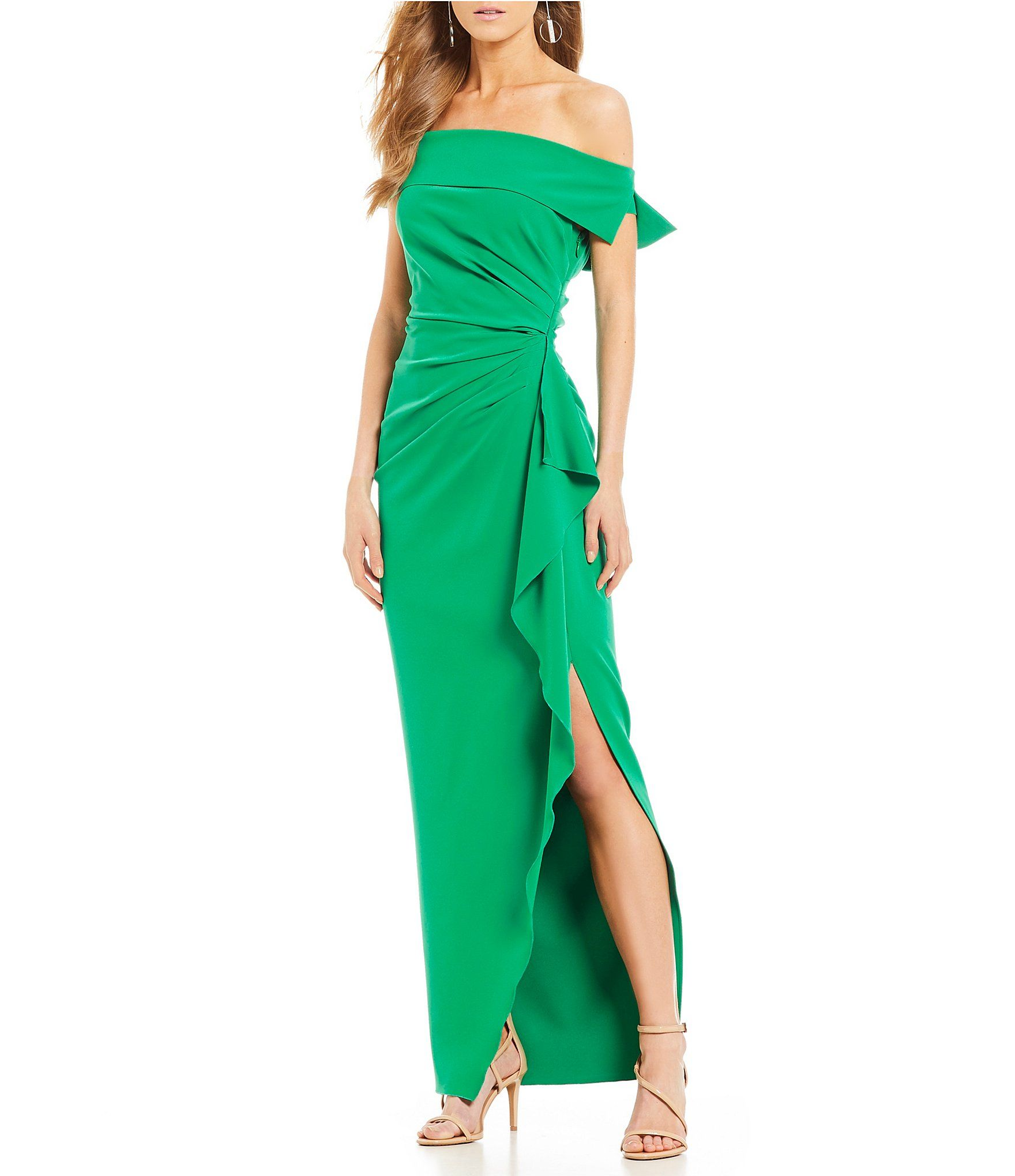 383baa45fa4 Shop for Vince Camuto Off-The-Shoulder Ruched Gown at Dillards.com. Visit  Dillards.com to find clothing