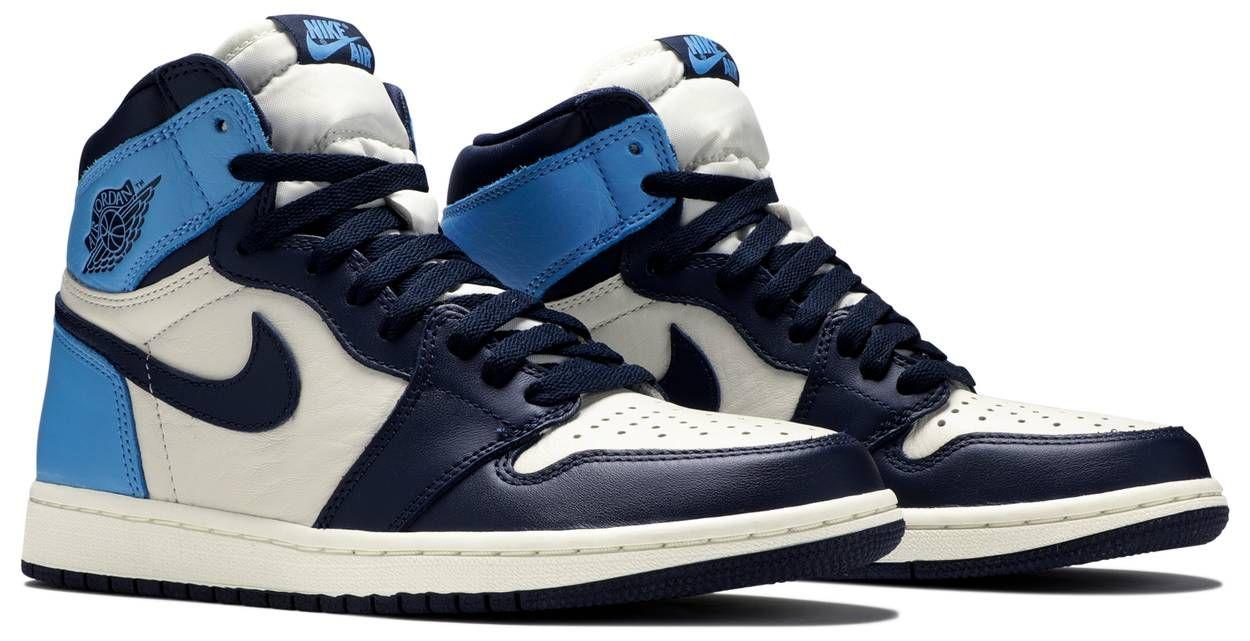 Air Jordan 1 Retro High Og Obsidian University Blue Nike Jordans Goat Buy And Sell Authentic Sneakers Air Jordans Blue Basketball Shoes Jordan 1 Retro High