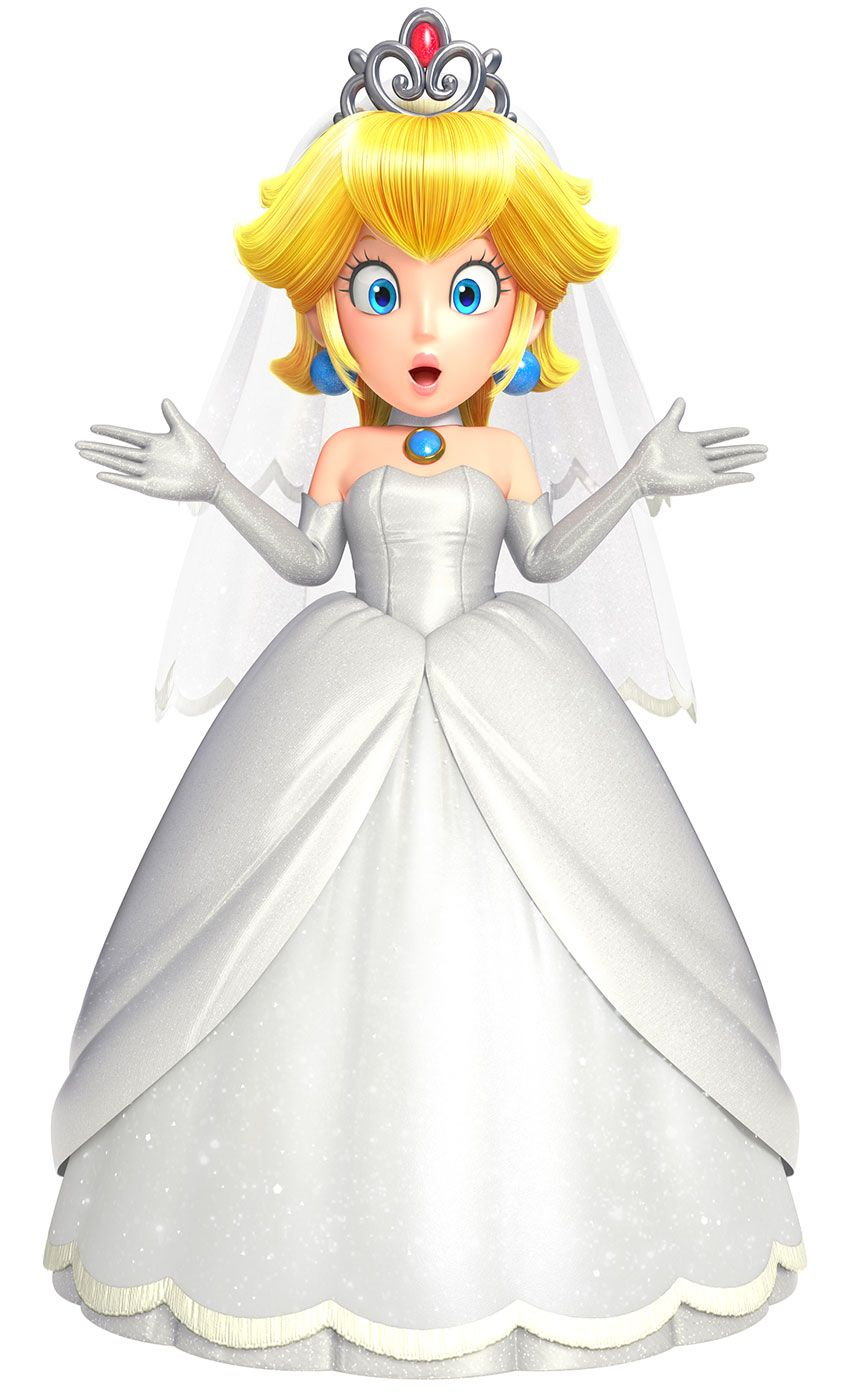 Wedding Peach Mario Mario Characters Excludes Yoshi And