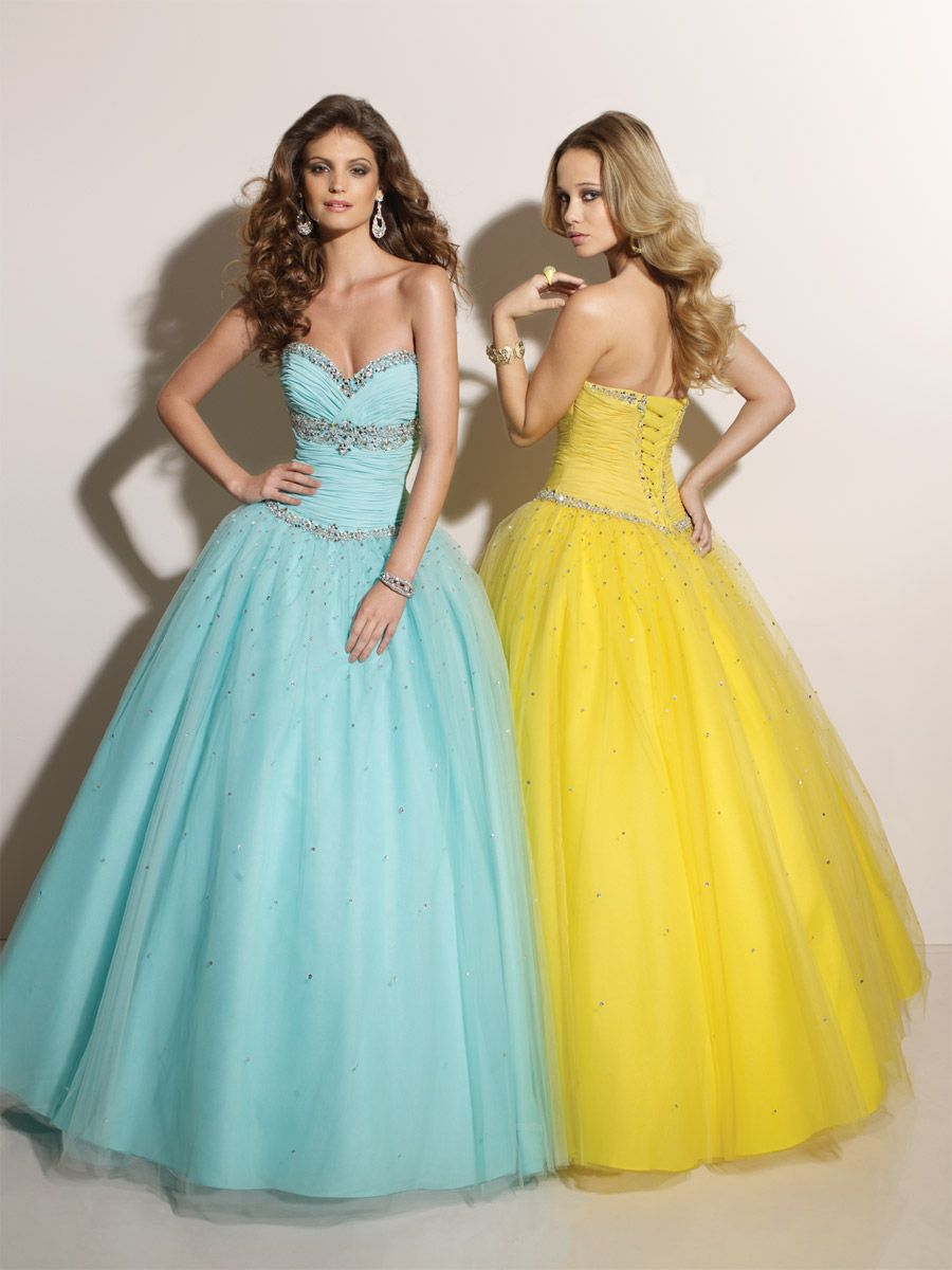 Ball gown tulle sweetheart empire floorlength laceup sleeveless