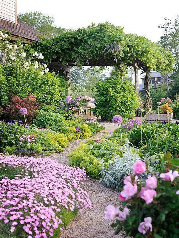 27 schöne und kreative Blumenbeet-Ideen zum Ausprobieren von ...  #ausprobieren #blumenbeet #ideen #kreative #schone #decorationentrance