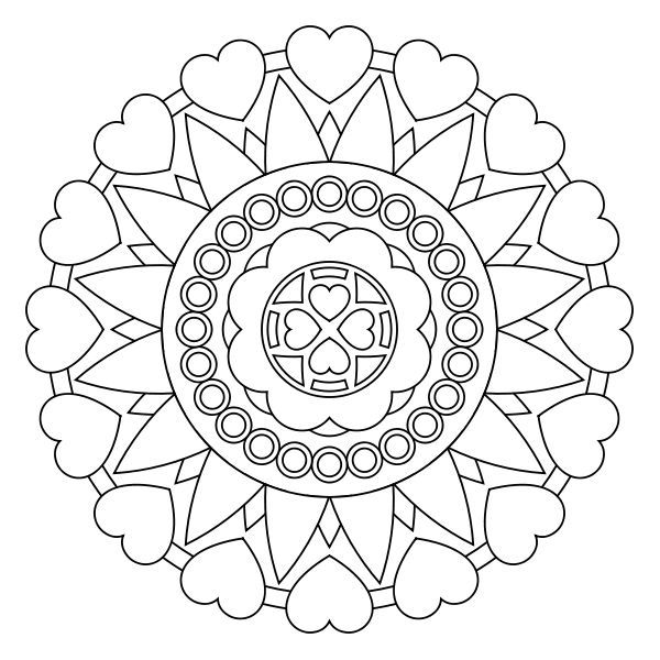 Free printable mandala coloring pages Printables Templates