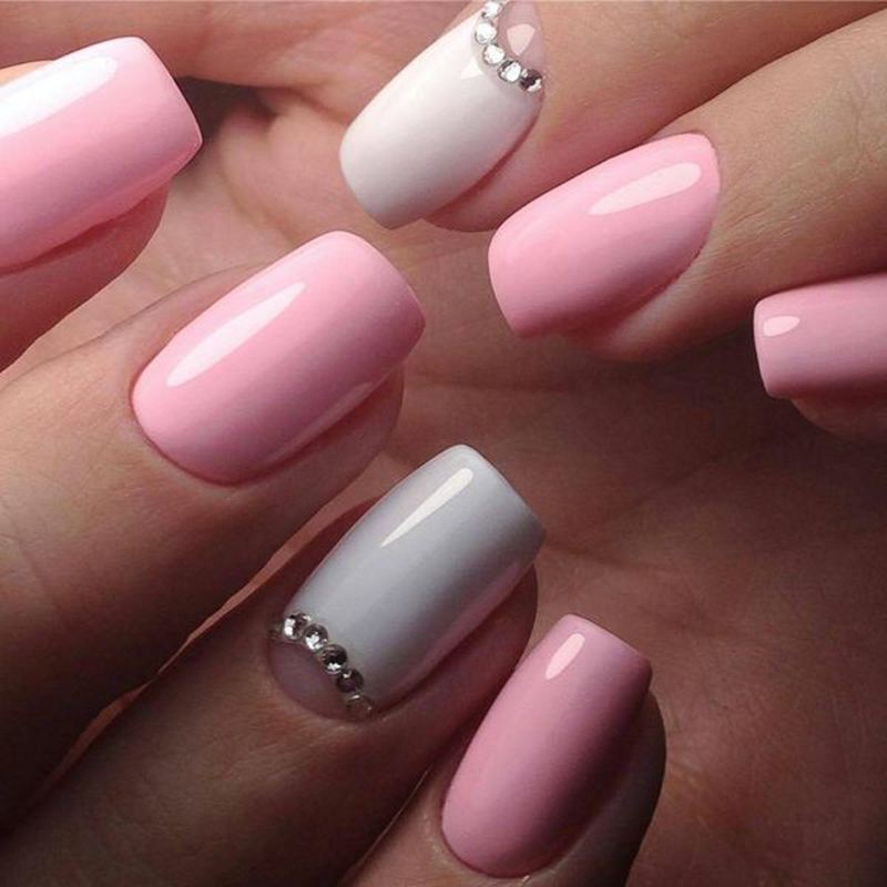 50 Sweet Pink And White Nail Design Ideas Pink Nail Colors Pink Nails Baby Pink Nails