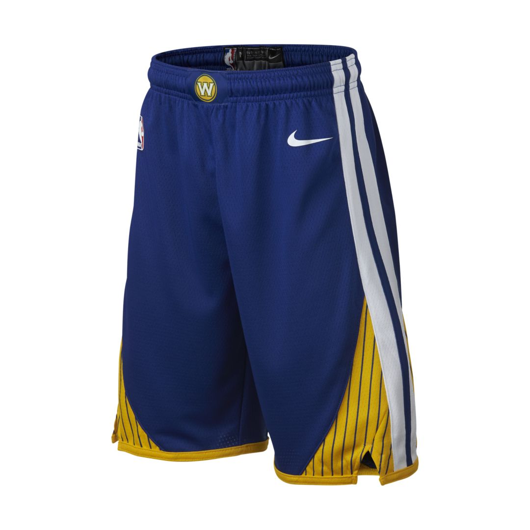 7df37726088 Golden State Warriors Nike Icon Edition Swingman Big Kids  (Boys ) NBA  Shorts