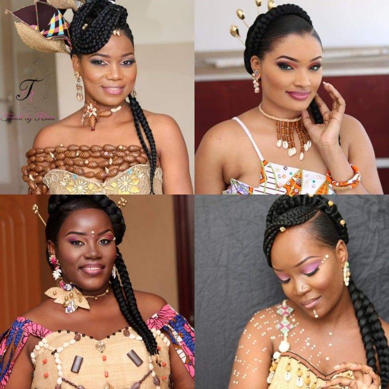 Coiffures Mariage Coutumier Gabon Gabonese Wedding Hairstyle Traditionnal African Wedding Hair African Wedding Hairstyles African Wedding Traditional Hairstyle