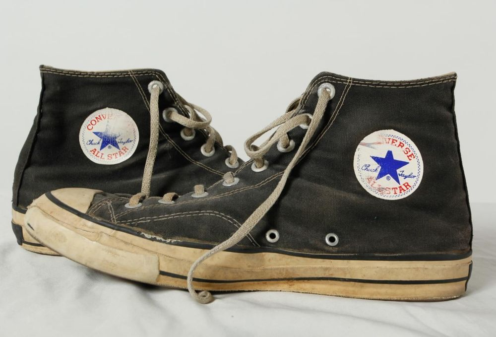 2d1dbf066414 1950 s Vintage Converse Shoes Chuck Taylor All Star Black Label Hi-Top USA  11  ChuckTaylor  Athletic  vintage