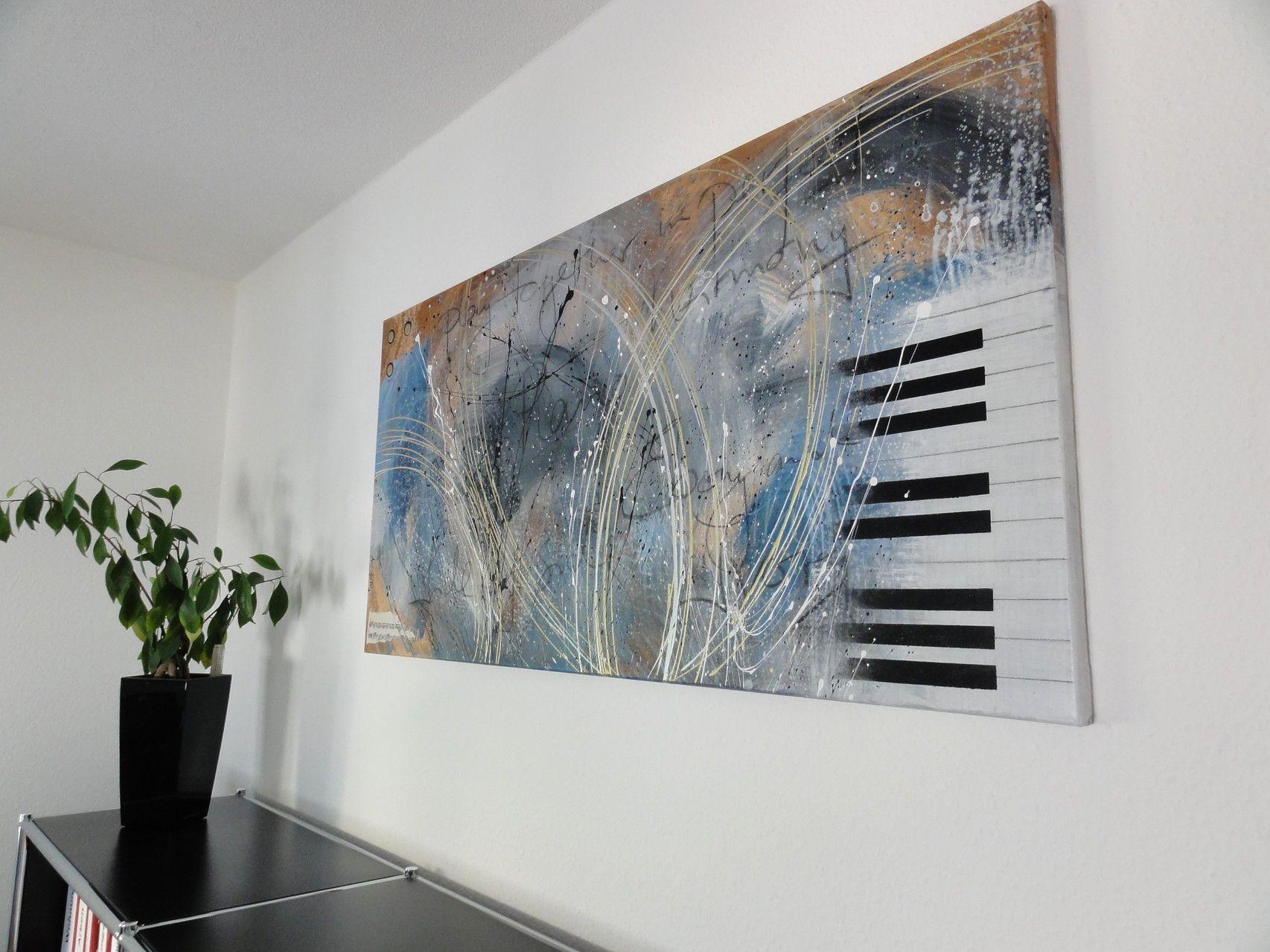 Annette Freymuth nettis-art PIANO Collage Klavier Acrylbild Leinwand ...