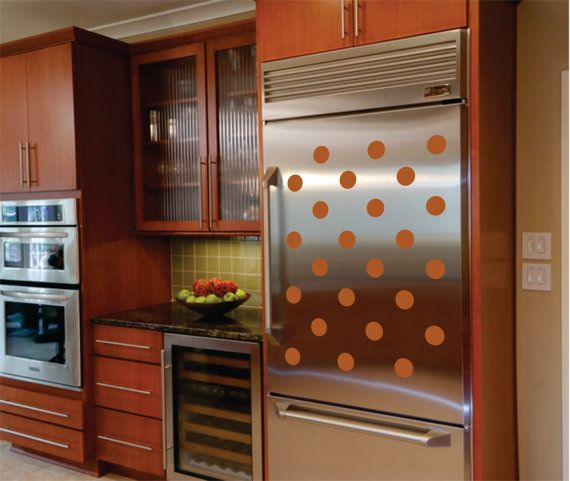 12 Removable Appliance Decals, Appliance Decals, Removable Dots, Polka Dot  Decals For Appliances. Kitchen Wall ...