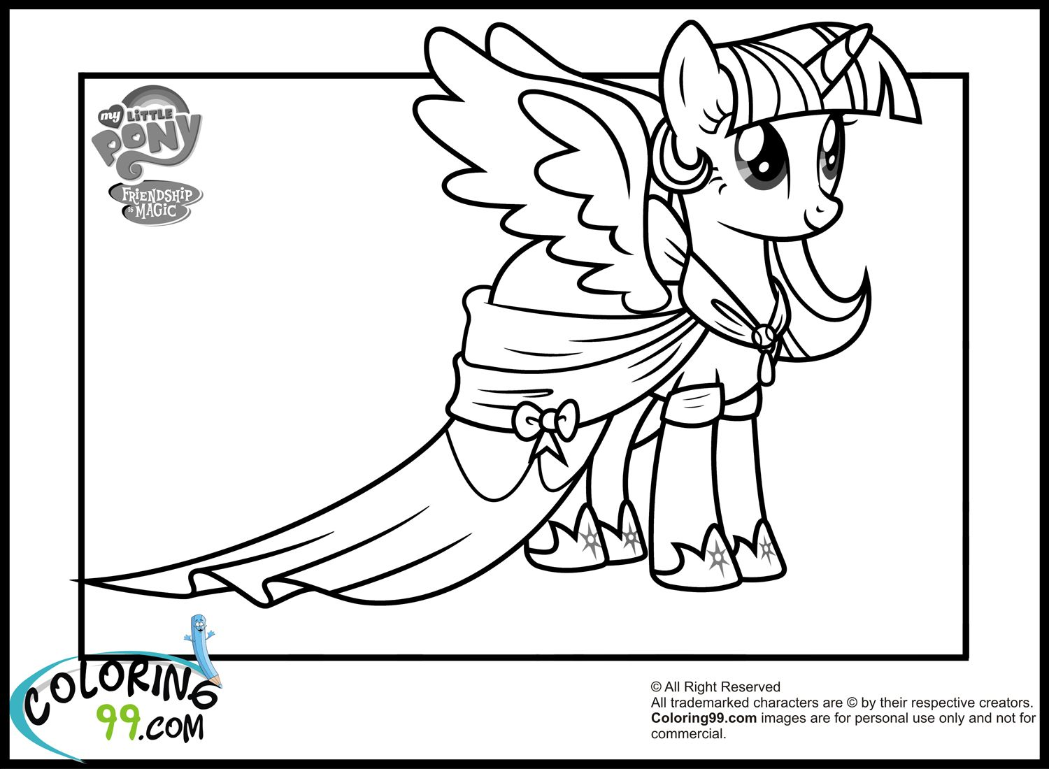My little pony coloring pages rarity in dress - My Little Pony Drawing Twilight Sparkle Step By Step Google Da Ara