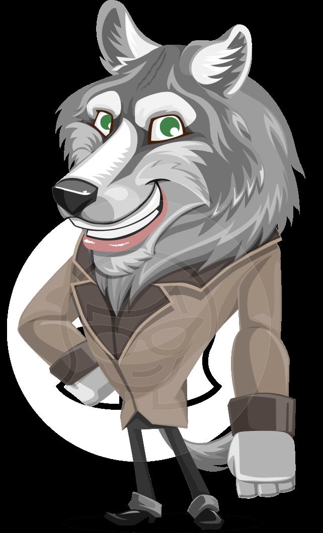 Wolf Wilder Cartoon Character Graphicmama Cartoon Wolf Cartoon Characters Cartoons Vector