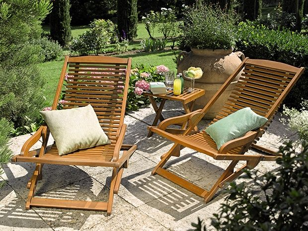 der klappbare sunfun relaxsessel diana ist aus nachhaltigem hartholz in hochwertiger. Black Bedroom Furniture Sets. Home Design Ideas