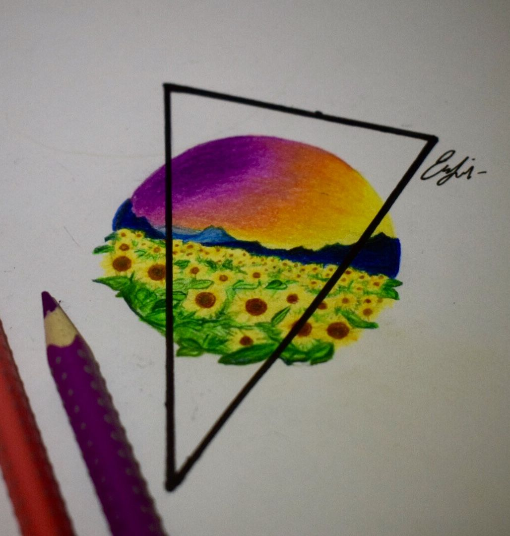 Beautifyl Drawing Beautiful Colourful Sky Drawing Flower Drawing Simple And Easy Drawing Flower Drawing Drawings Easy Drawings