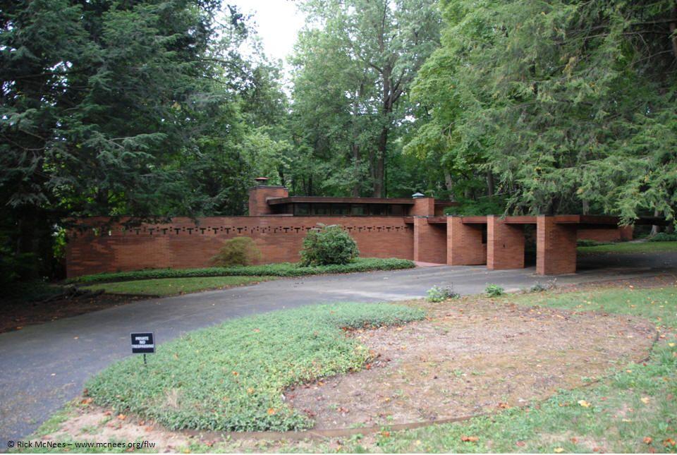 Ellis Feiman House Canton Ohio Frank Lloyd Wright 1954