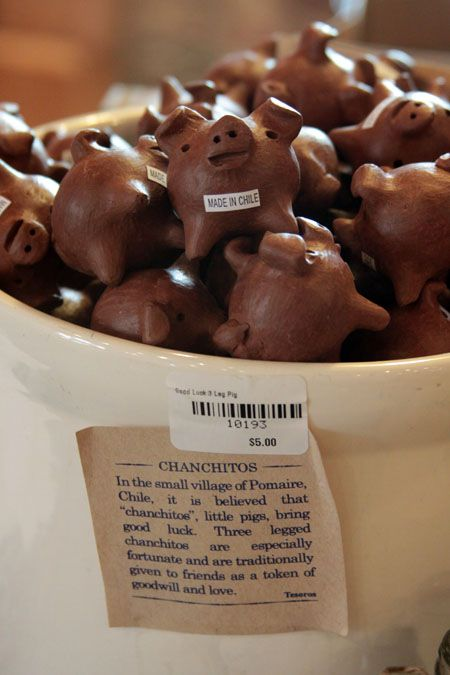 Chanchitos Good Luck Charm Three Legged Pigs From Chile I Saw Them In