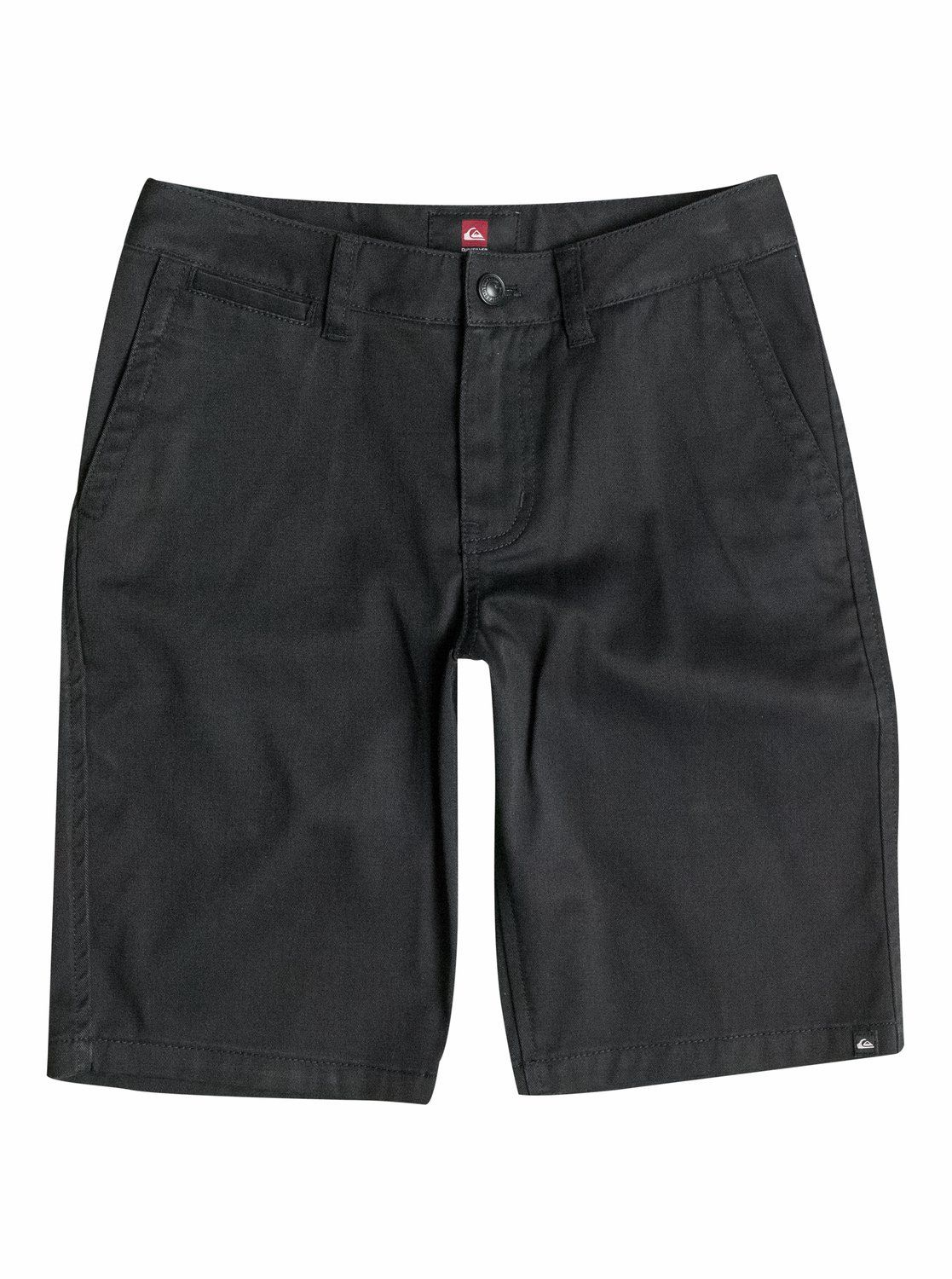 Quiksilver Big Boys' Union Chino Short, Black, 25. Signature Quiksilver surf style. Regular fit.