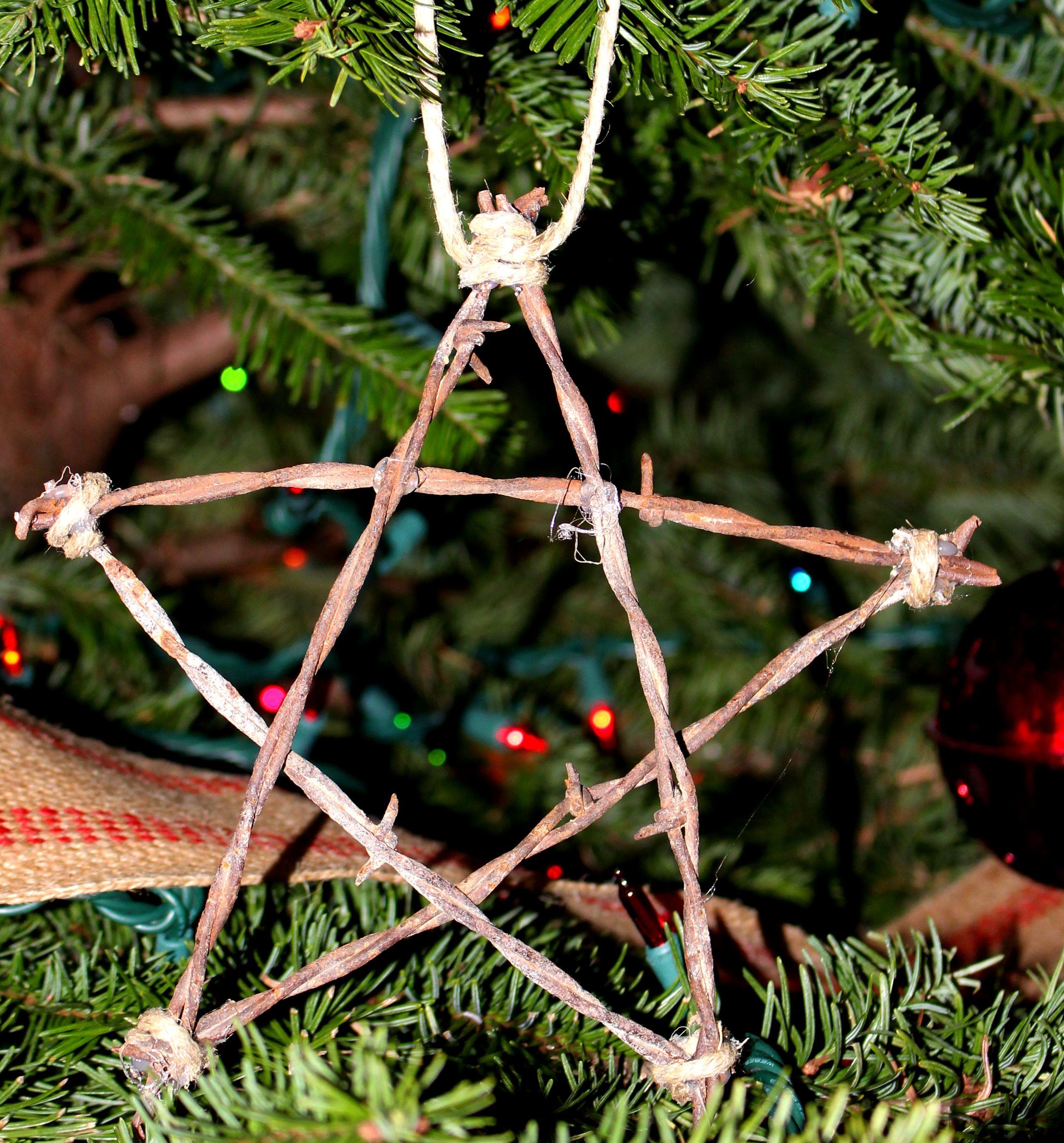 Barbed Wire Star Ornament
