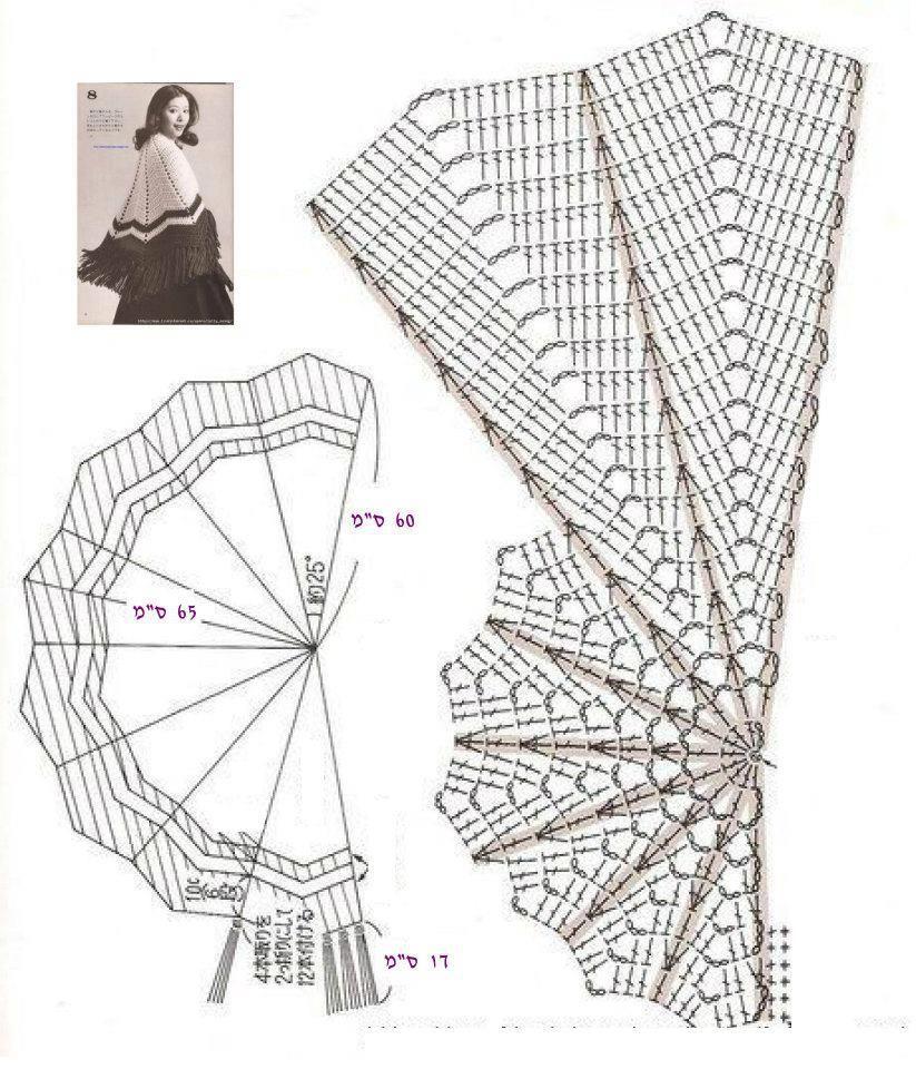 Chal: patrones a crochet | iRincondeLuzdelSol | ποντζο | Pinterest ...