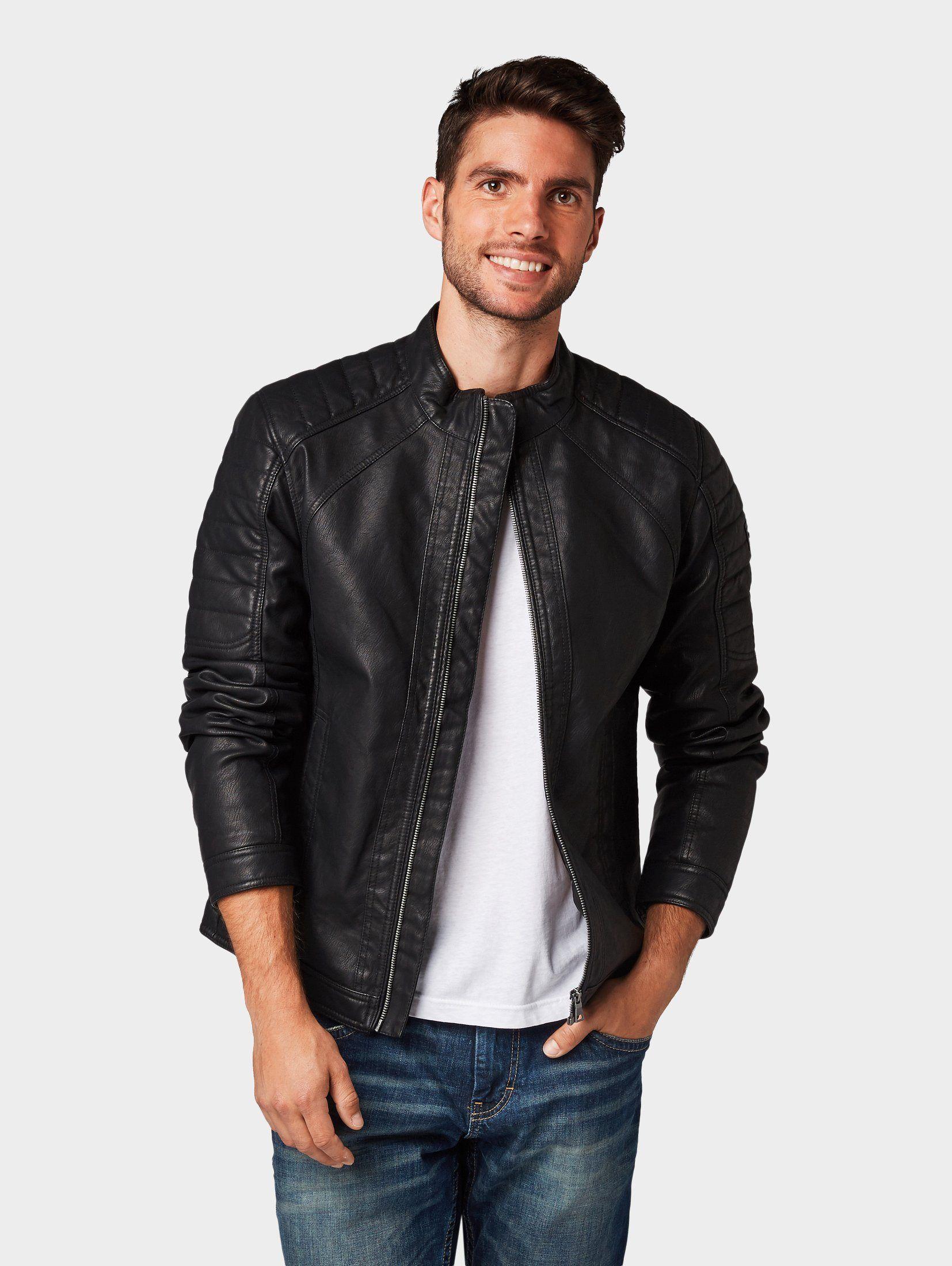 5042f87d Style Online, Tom Tailor, Mode Online, Leather Jacket, Clothing, Black,