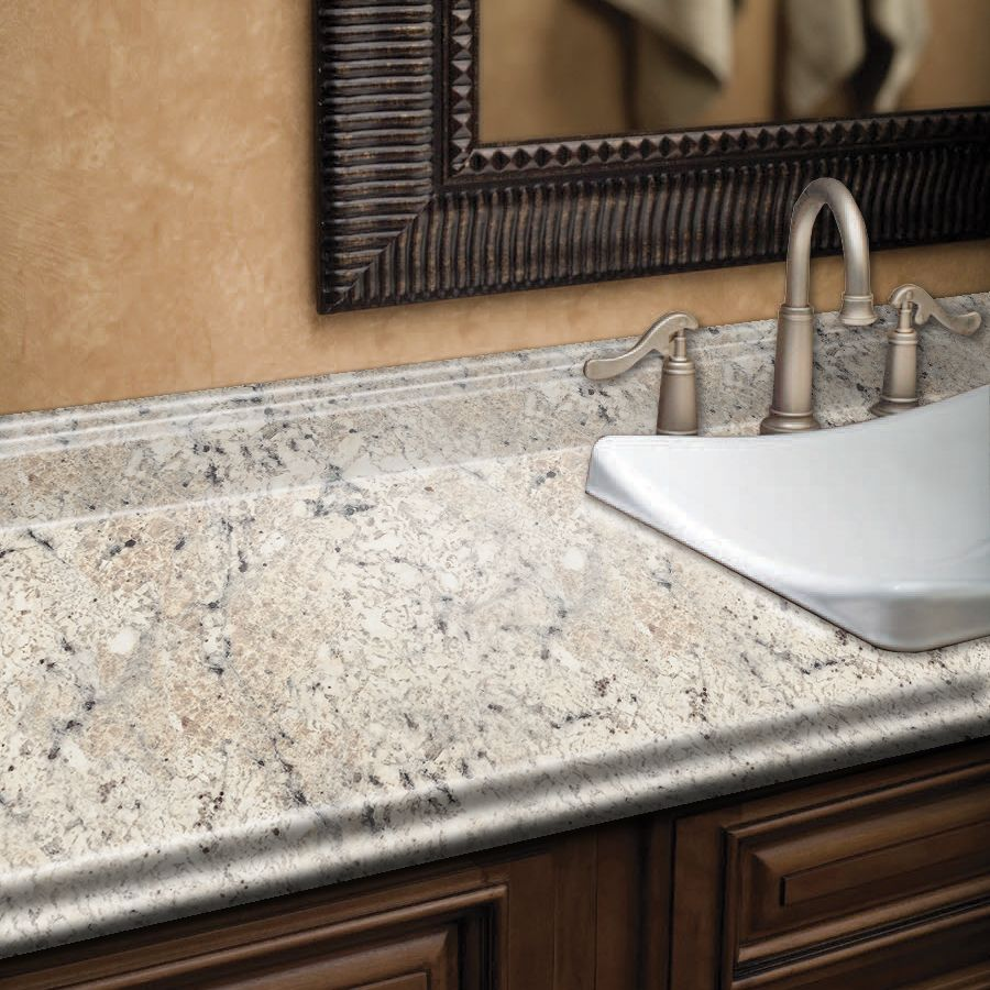 Shop BELANGER Fine Laminate Countertops Formica 8 Ft Ouro Romano Etchings  Straight Laminate Kitchen