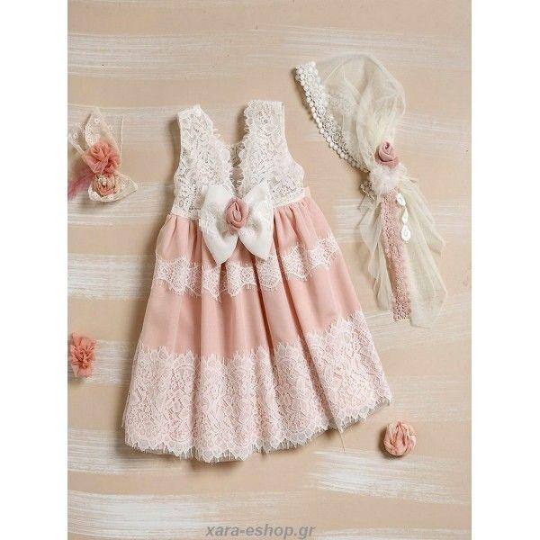 5e346e0eac Βαπτιστικό Φόρεμα Lollipop Φ329 Οικονομικό-Επώνυμο   Οικονομικά ...