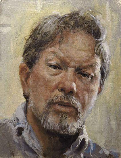 """self-portrait sketch by Harry Burman Acrylic ~ 12.5"""" x 9.5"""""""