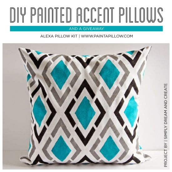 Diy Painted Accent Pillows A Giveaway Pillows Diy Painting