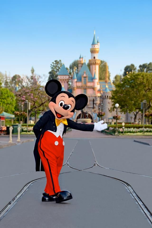 Mickey Mouse welcomes you to Disneyland!