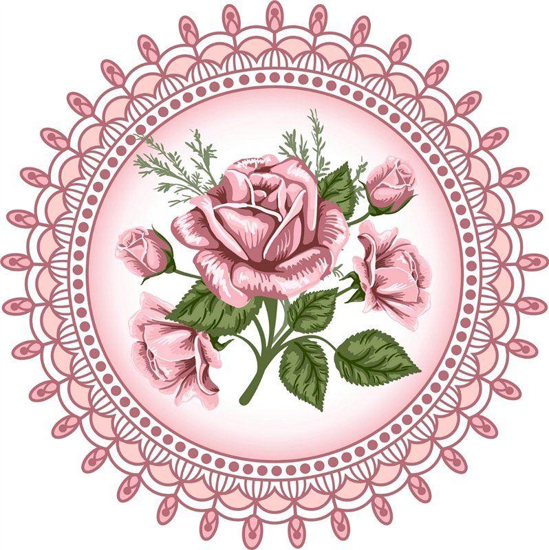 Круглые открытки с цветами